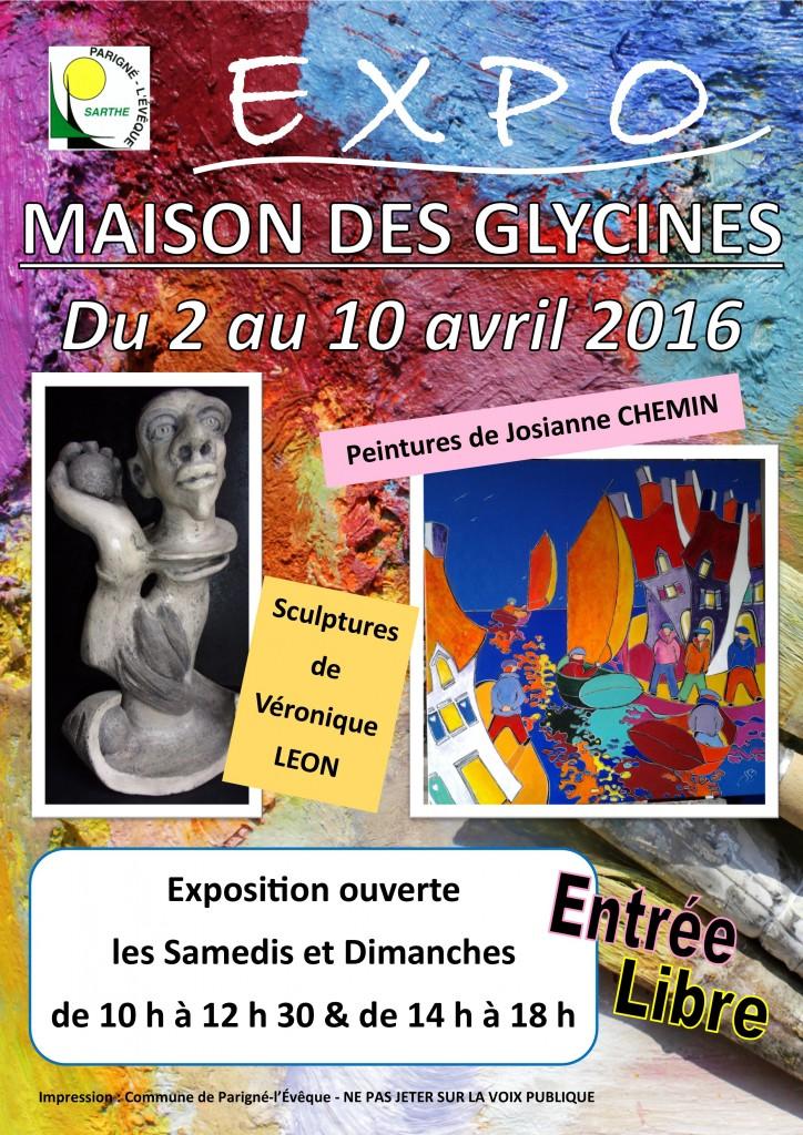 Affiche expo Mmes Chemin - Léon